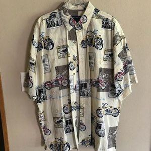 Men's Motorcycle Dress Shirt
